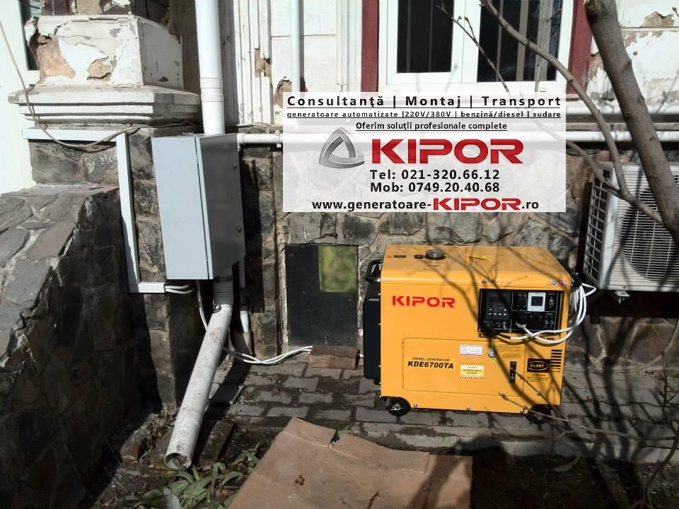 Montaj generator de curent Kipor KDE 6700 TA cu panou automatizare