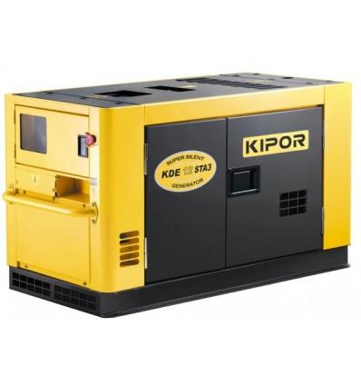 Generator de curent diesel cu automatizare Kipor KDE 12STA3