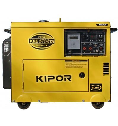 Generator de curent diesel cu automatizare Kipor KDE 6700TA