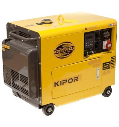 Generator de curent diesel cu automatizare Kipor KDE 6700TA3