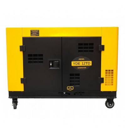 Generator de curent insonorizat Stager YDE12TD, 3000rpm, diesel, monofazat