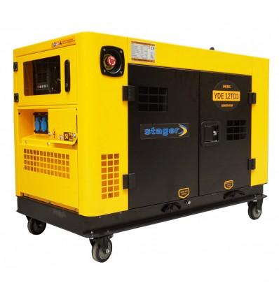 Generator de curent insonorizat Stager YDE12TD3, 3000rpm, diesel, trifazat
