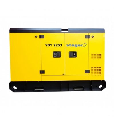 Generator de curent insonorizat Stager YDY22S3 trifazat