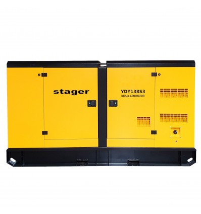 Generator de curent insonorizat Stager YDY138S3, diesel, trifazat